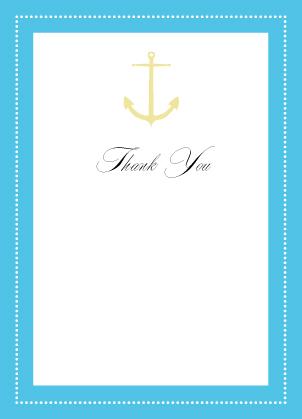 Wedding Thank You Card - All Aboard
